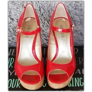 Guess Patent Leather Wedges.